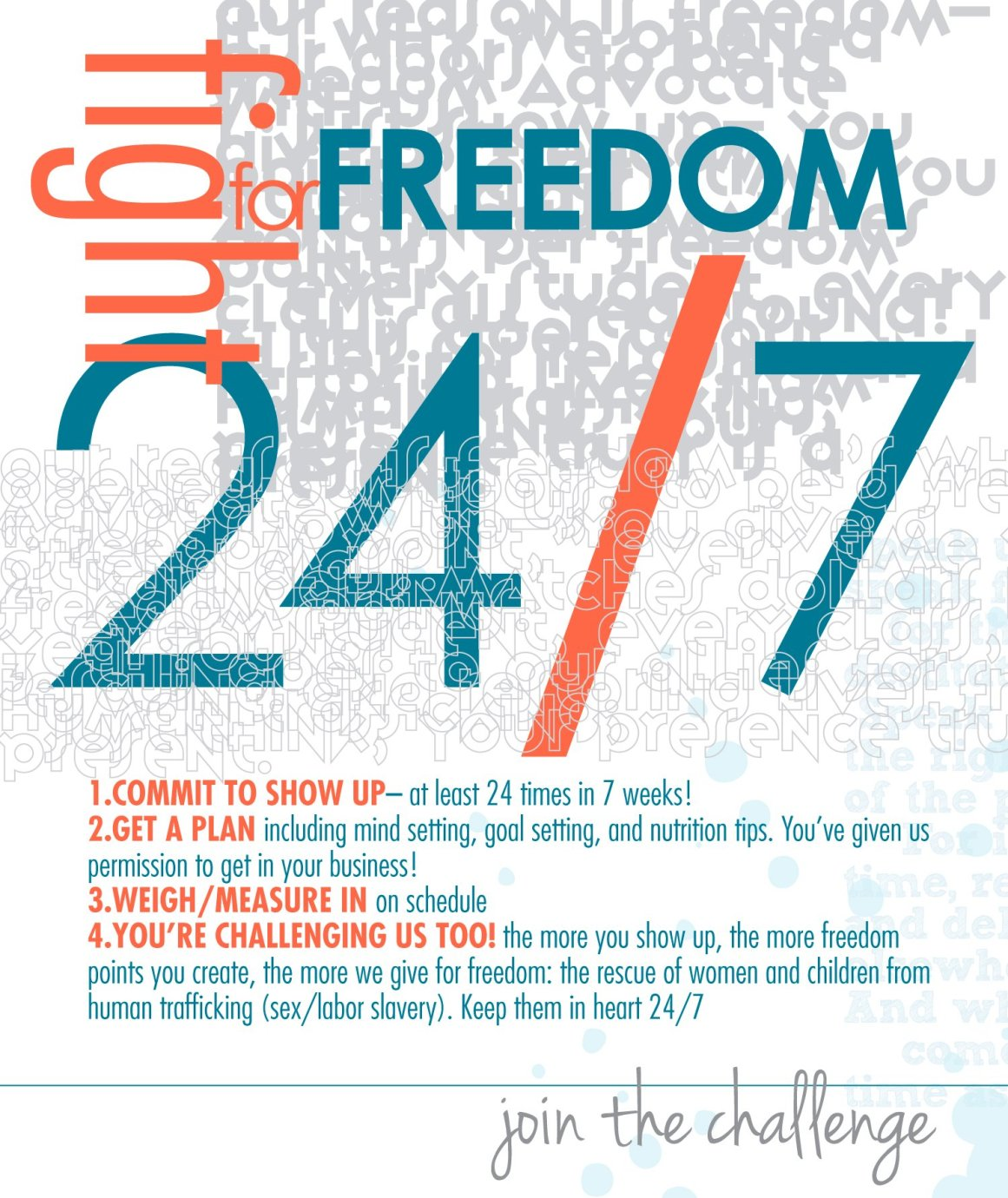 Fight for FREEDOM 24/7. Sign the declaration, and bring it ON!