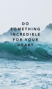 think again and be image on dami website saying do something incredible for your heart