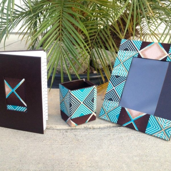 Ankara Wax Print Picture Frame by Dami and Tribal Marks