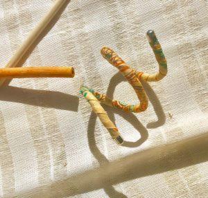 Handmade Ankara Spiral cuff from Tribal Marks by 'Dami - warm