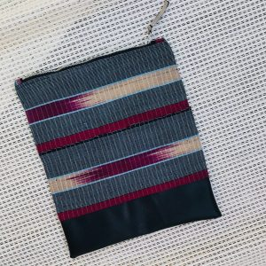 Woven African Aso-oke, Aso-ofi cloth fold over zipper ethnic clutch from Tribal Marks by 'Dami - cool - open