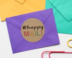 Happy Mail Labels + Free Cut File! A fun freebie to jazz up your snail mail in this week's Silhouette Saturday.