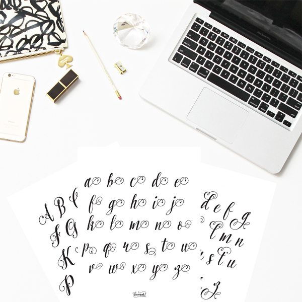Modern Calligraphy 101: The Basic Supplies you'll need to get started with practicing + free practice sheets! | dawnnicoledesigns.com