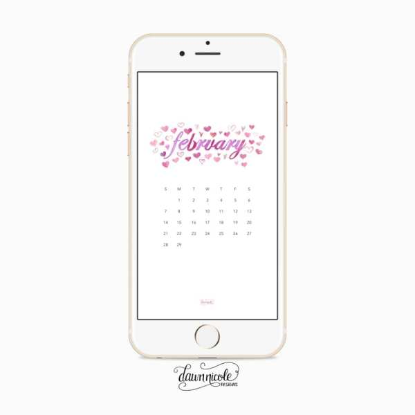 February 2016 Calendar + Tech Pretties | DawnNicoleDesigns.com