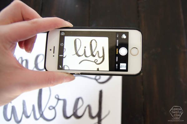 DIY hand lettered name cut outs- a step by step tutorial... so cool!
