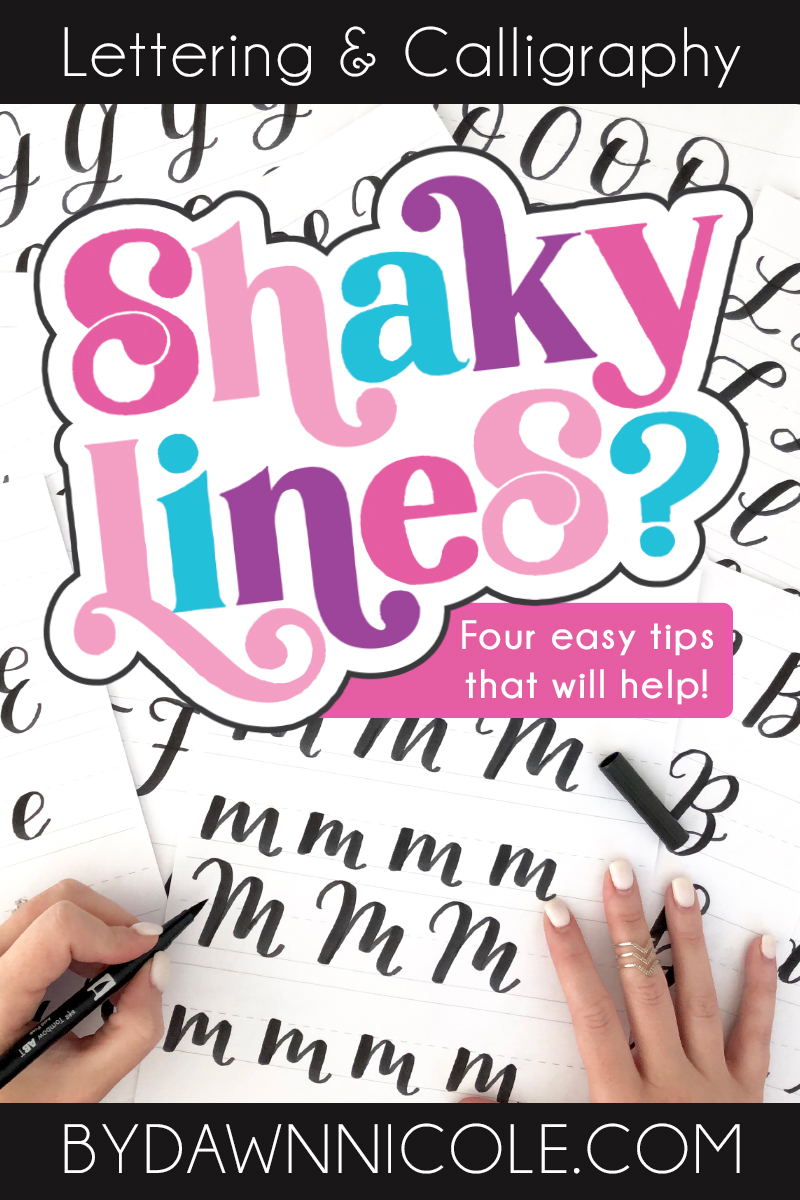 Hand Lettering: 4 Tips for Improving Shaky Lines. Even with the imperfect nature of hand lettering, there are still ways to improve your work!