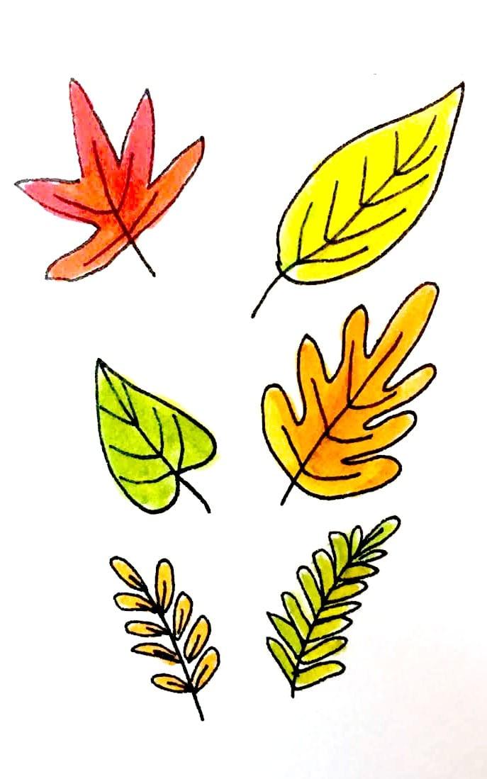 7 Ways To Draw Fall Leaves Dawn Nicole Designs
