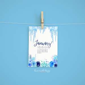January 2017 Calendar + Tech Pretties