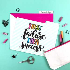 Hand Lettered Success Free SVG Cut File + Print