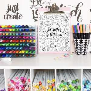 I'd Rather Be Lettering Free Coloring Page