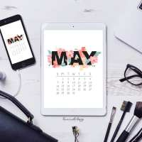 May 2017 Calendar + Tech Pretties