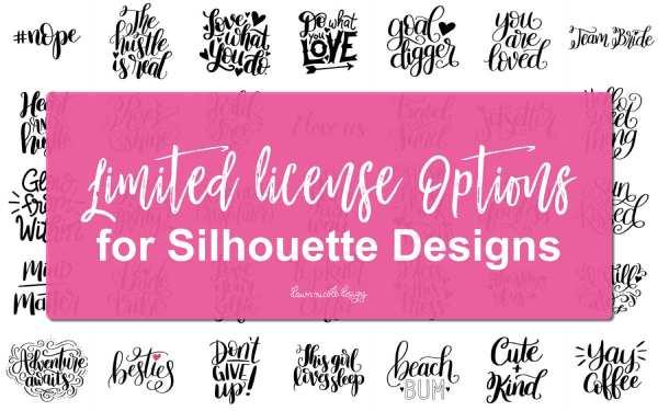 Silhouette Design License Options for Dawn Nicole Designs