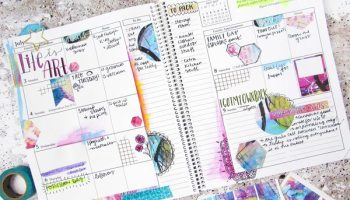 Free Colorful Painting Printable Planner Stickers