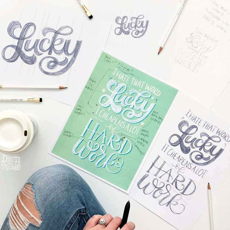 Lefty Tips for Hand Lettering and Calligraphy. I'm a lefty myself, so I love seeing other lefties overcome the myth that lefties don't make good letterers!