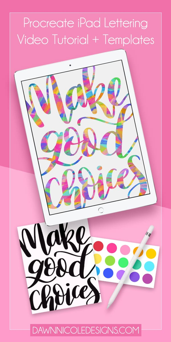 Back to School Lettering Tutorial: Make Good Choices. Lettering that goes off the page is a simple yet effective way to add character and style to a piece!