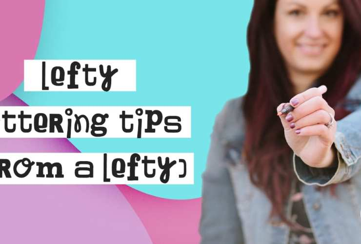 Lefty Tips for Hand Lettering and Calligraphy.I'm a lefty myself, so I love seeing other lefties overcome the myth that lefties don't make good letterers!