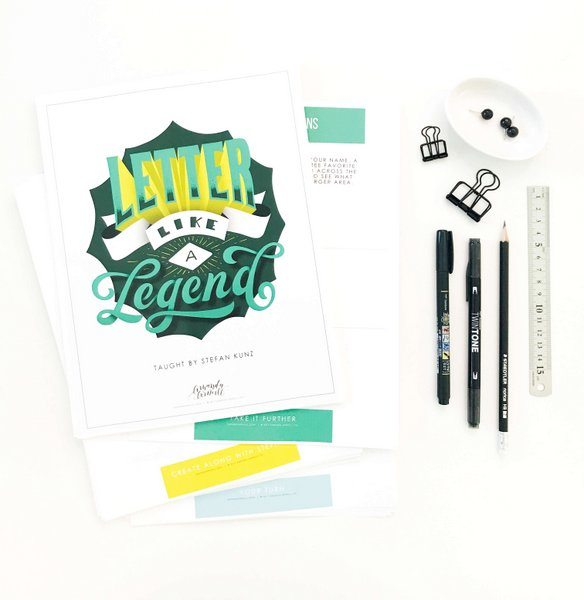 Letter Like a Legend: Free Video Lesson. An Amanda Arneill Course taught by Stefan Kunz. Get ready to rock your lettering skills!