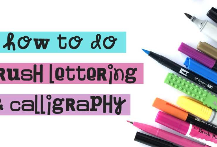 How to Do Brush Lettering + Calligraphy. Learn the difference, watch the video lessons, download some free worksheets, and get practicing!