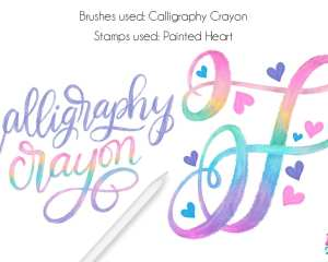 Procreate Tutorial: Rainbow Crayon Calligraphy. Creating this colorful style of lettering is oh-so-easy. Follow these steps to whip up your own version. Plus, a free color palette!