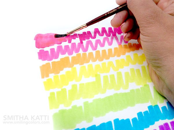 Tombow Tutorial: Rainbow Watercolor Backgrounds. Learn how to create two easy kinds of Rainbow Watercolor Backgrounds with your Tombow Dual Tips.