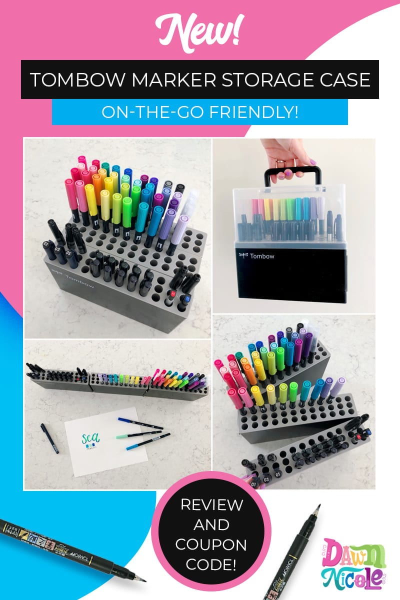 Tombow Marker Storage Case. The new on-the-go friendly marker storage case from my friends at Tombow is pure genius.