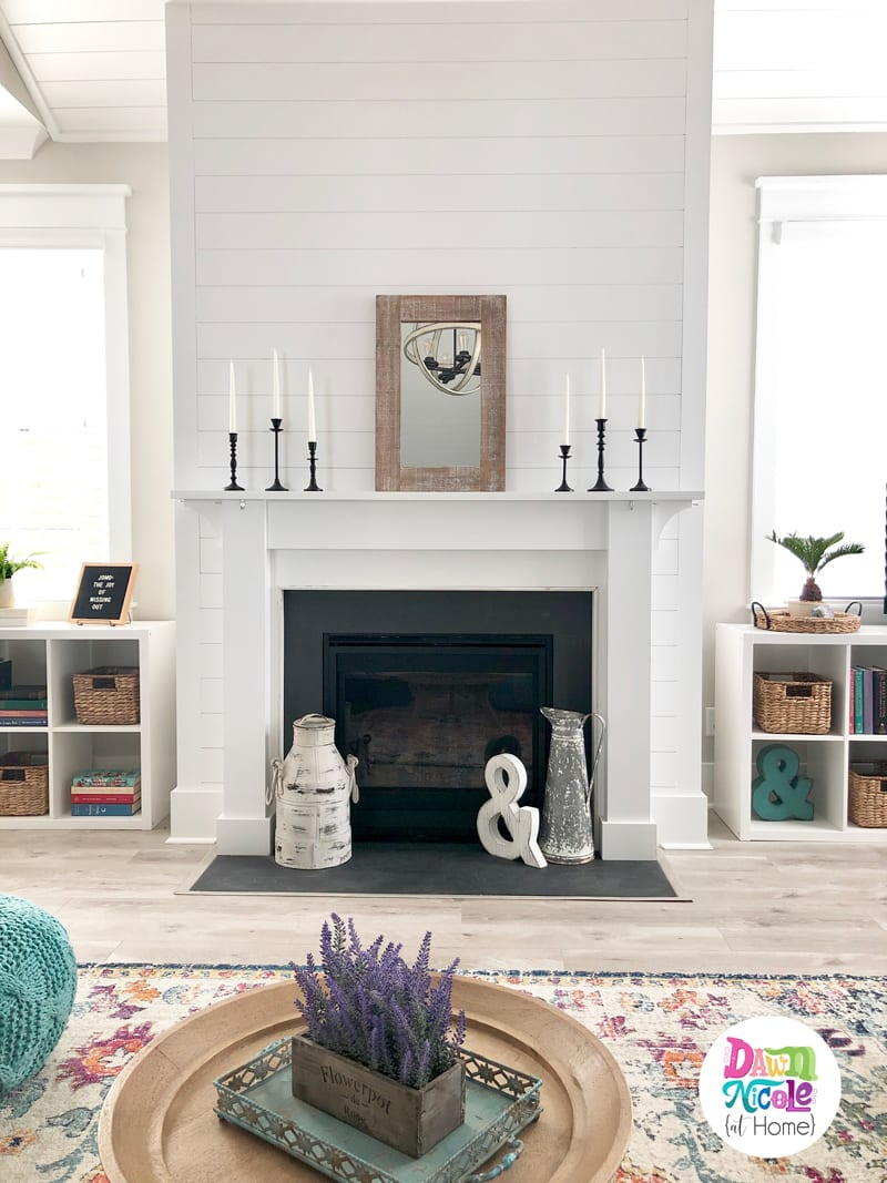 Coastal Farmhouse Open Concept Living Space. A tour of the foyer, kitchen, living, and dining rooms of our Charleston-based home.
