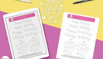 Months of the Year Free Practice Sheets | Dawn Nicole Designs®