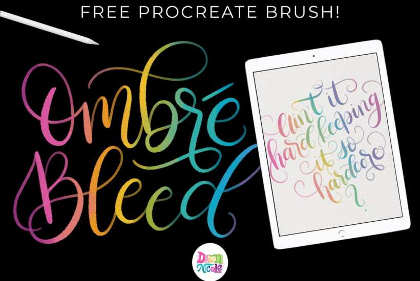 Free Procreate Brush: DND Ombré Bleed. Download a sample brush from my DND Procreate Brush Bundle. Plus, a free high-res watercolor paper background!