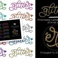 Glitter Lettering Procreate Tutorial