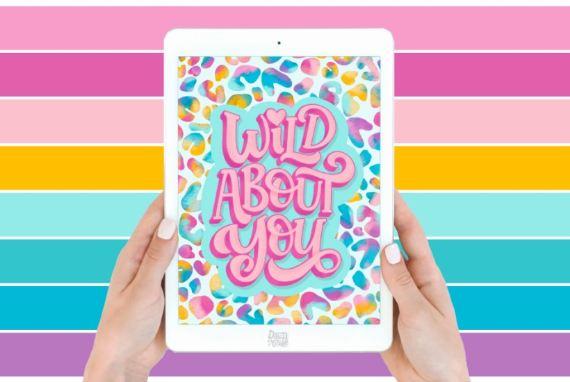 "Wild About You Color Palette. Grab the color palette I used for my hand-lettered ""Wild About You"" artwork + tips for how to use it!"