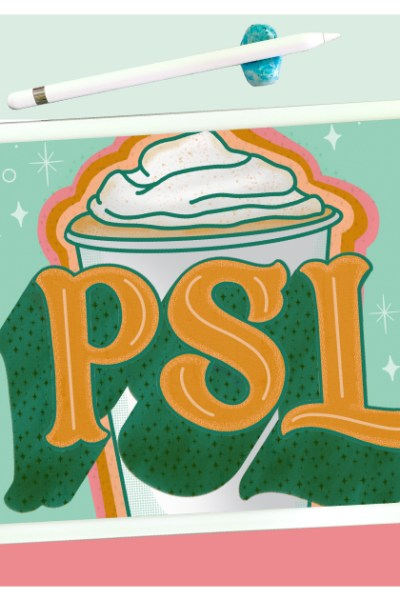 Pumpkin Spice Latte Color Palette.A sweet seasonal color palette inspired by my love of pastel Fall colors and, of course, PSLs.
