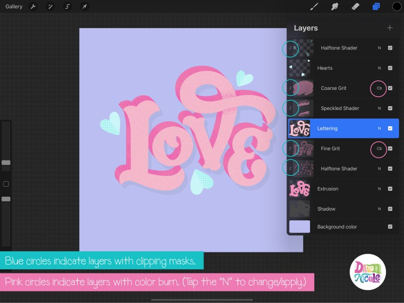 Love Lettering Layers