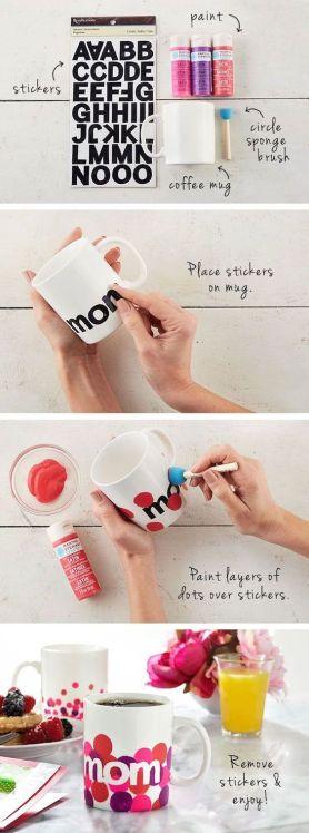mug peinture diy