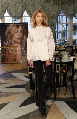 Exclusive - Clemence Poesy (wearing Chloe head to toe), Face of the New Chloe Love Story Fragrance, celebrates its' Launch during a luncheon at Laduree in Soho, New York City, NY, USA, February 10, 2015. Photo by Sara Jaye Weiss/Startraks/ABACAPRESS.COM | 487299_009 New York City Etats-Unis United States