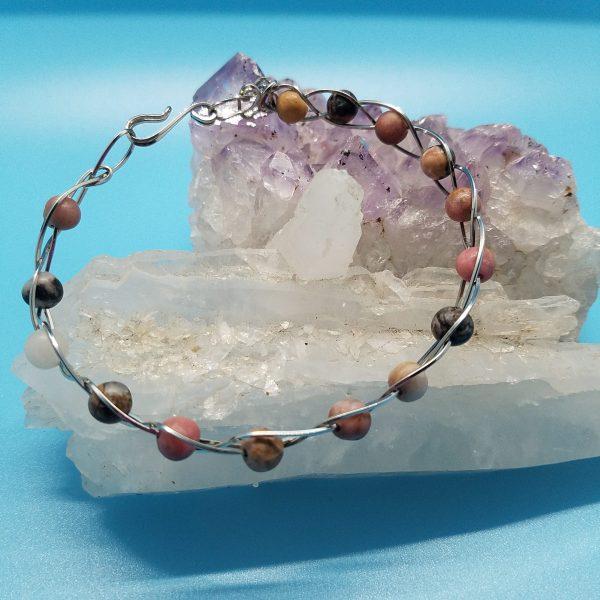 Rhodonite Bracelet 8mm Rhodonite Beads