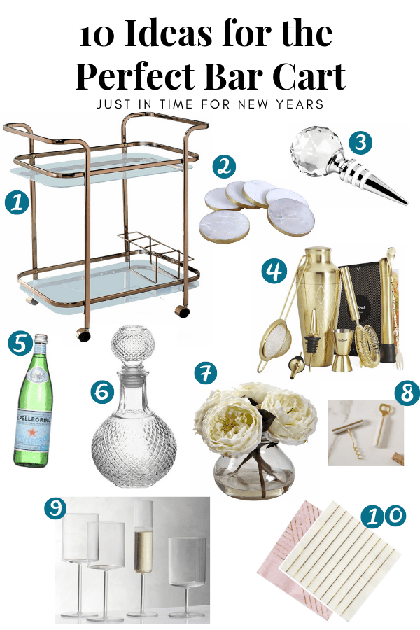 10 Ideas for the Perfect Bar Cart - Glam