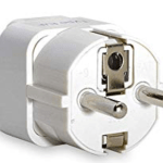 a picture of a plug adapter type - a travel packing hack is to remember to pack the e/f type for your trip to France