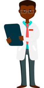 a black medical resident doctor