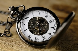 a picture of a pocket watch because time does not always belong to you when you are married to a doctor
