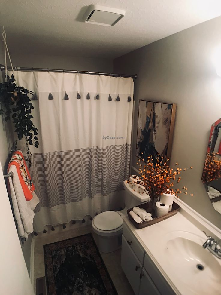 a picture of the bathroom after the makeover