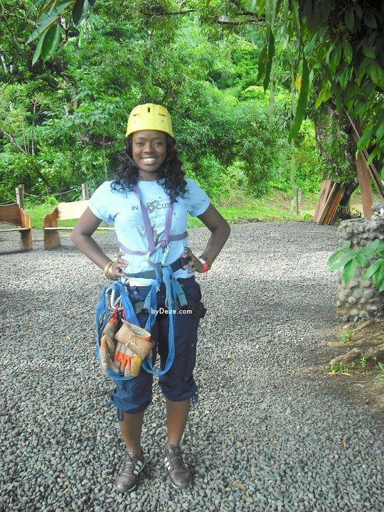 me standing in zip lining gear