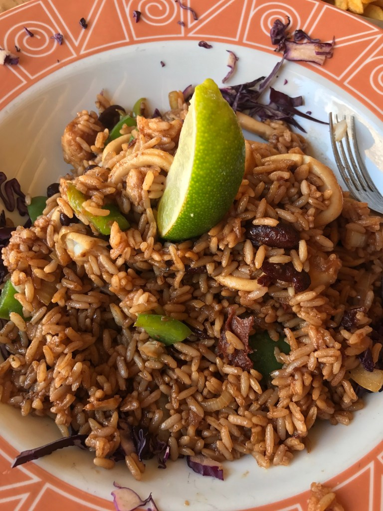 a rice dish from Big Mama's Grill in Aruba