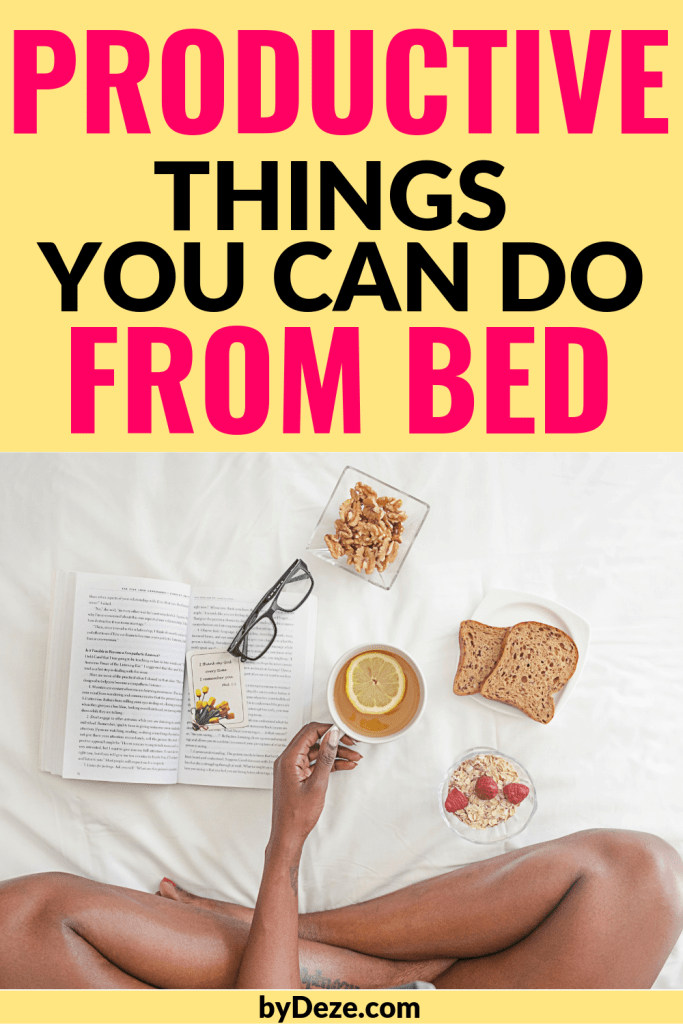 productive things you can do from bed flyer