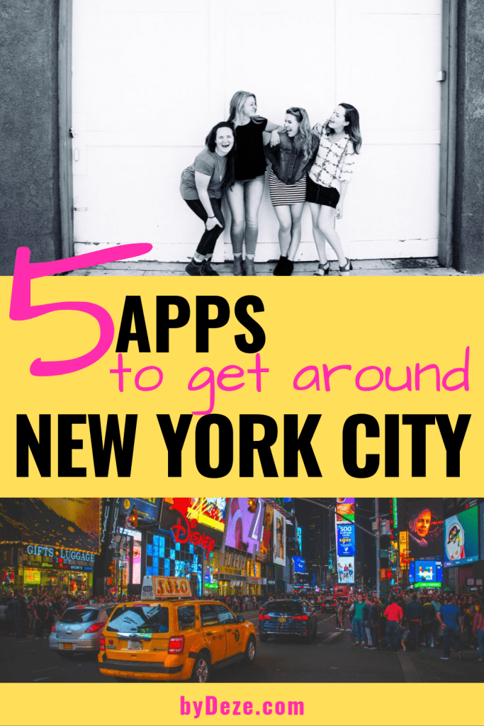 apps for new york to get around for your girls trip to nyc