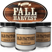 a fall harvest candle trio to give your home a good smell