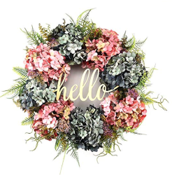 a welcoming wreath like this one can make your home feel cozy