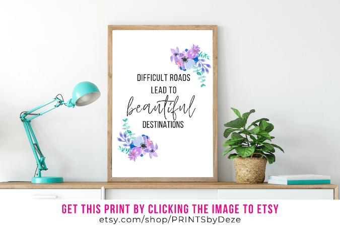 framed inspirational infertility quotes difficult roads