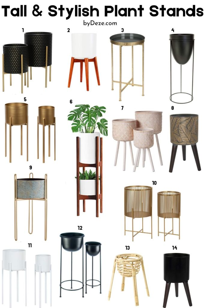 14 contemporary plant stands