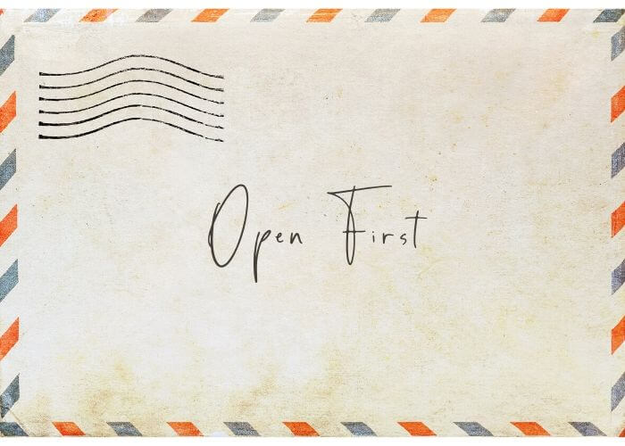 an open first letter
