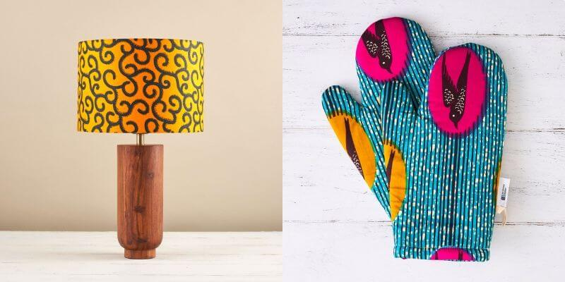 african inspired etsy shop lampshade and mitts